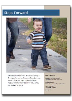 Image of the cover of the Steps Forward progress report
